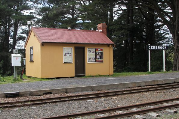VR portable and station nameboard at Gembrook's 'original' station