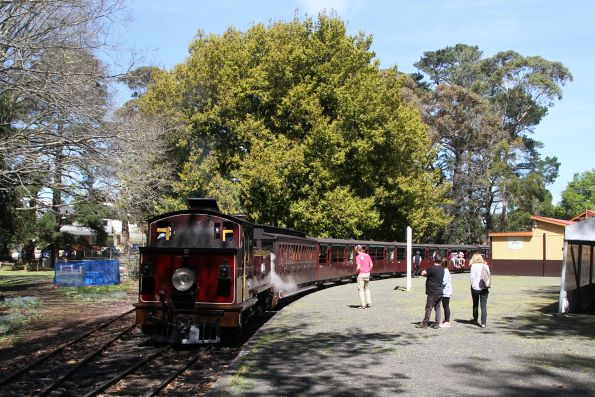 12A ready to depart Gembrook station