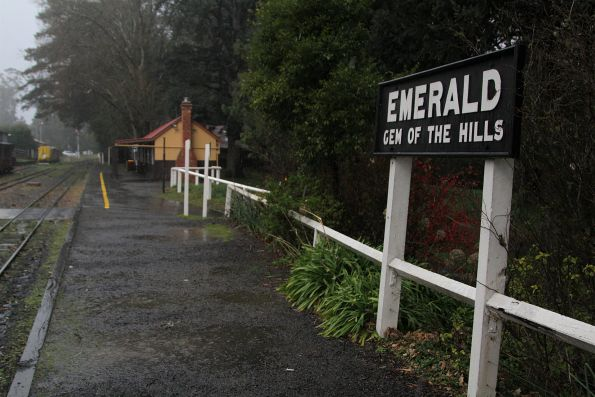 'Emerald: Gem of the Hills' sign