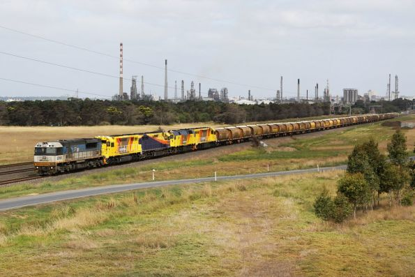 The 'big one' on the move out of Corio, bound for Melbourne
