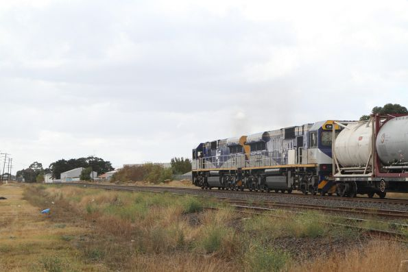 CM3311 leads CM3313 on MS7 northbound cement at Albion