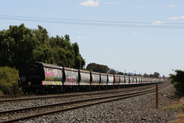 6AQ1 up standard gauge grain at North Shore