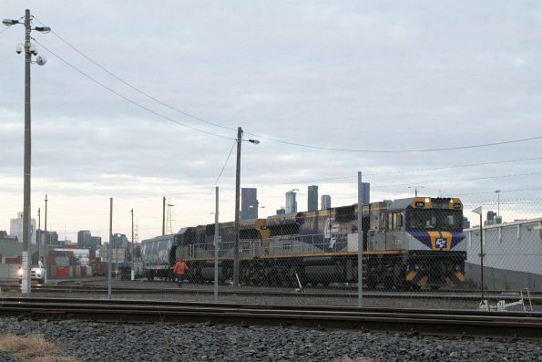 CM3311 and CM3316 shunt a single CGSY grain wagon at North Dynon