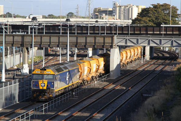G515 stabled at Melbourne Yard with the Westall-bound Apex train