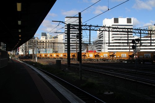 Empty wagons on the Westall to Kilmore East run at Southern Cross