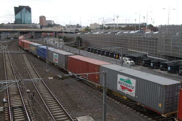 40 foot Westgate Ports containers on the train