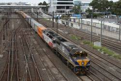 VL362 and G521 leads the up paper train through Richmond Junction