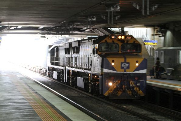 VL360 leads VL356 on the up Maryvale service through Springvale station