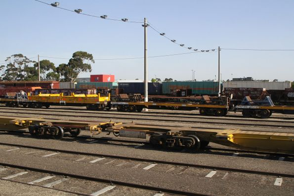 SQEF container wagons stabled at Tottenham Yard due to the Gippsland line being closed for trackwork