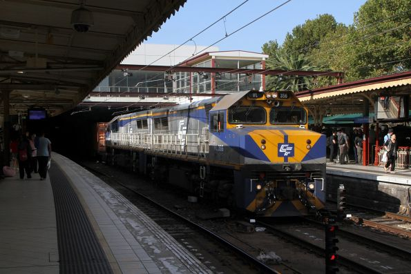 VL356 leads VL360 on the up through Flinders Street Station