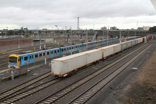 Tail end of the up Maryvale finally on the move at North Melbourne