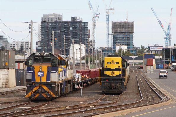 T373 and VL360 stabled at North Dynon on a works train