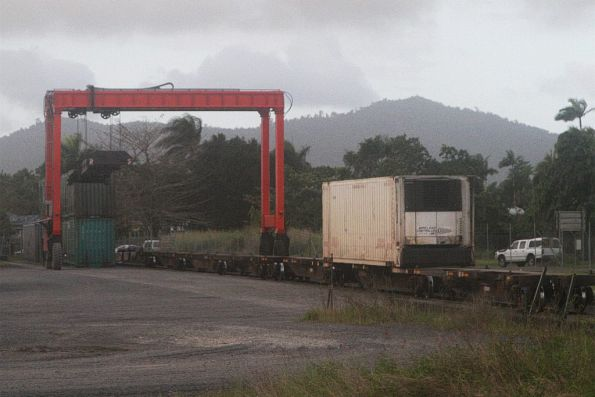 Gantry crane at the Aurizon container terminal at Innisfail