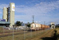 The 'Cement Australia' terminal is located opposite the Cairns cement siding