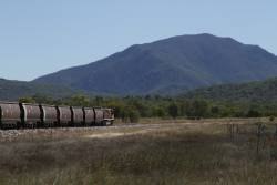 Aurizon 4123 trails a coal train on the Newlands System at Euri