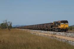Aurizon 4123 trails a coal train on the Newlands System