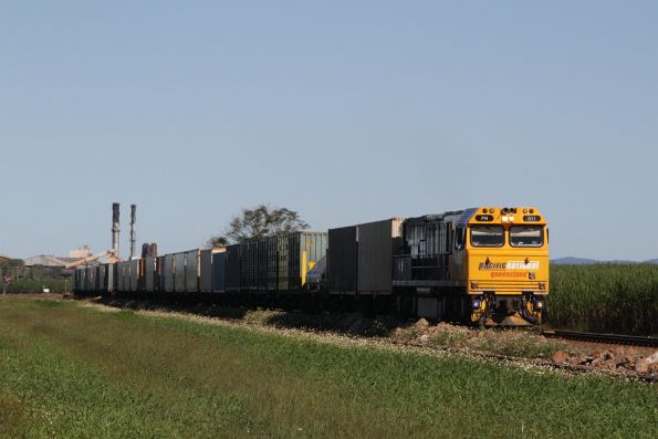 PN011 leads a northbound PN Queensland intermodal service out of Proserpine