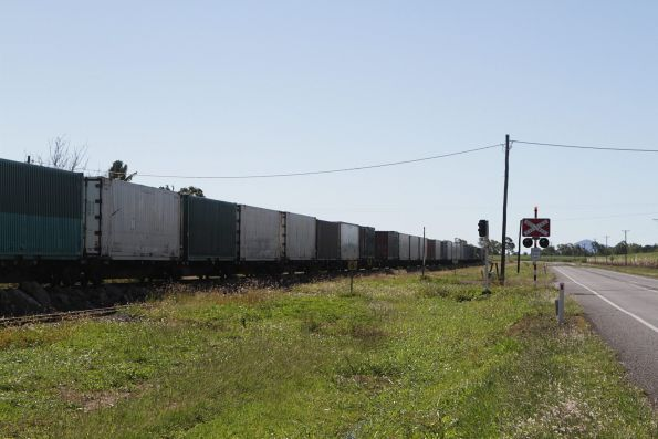 Mix of containers on a northbound PN Queensland freight
