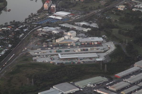 Looking north-east over Moorooka Yard, used by PN Queensland