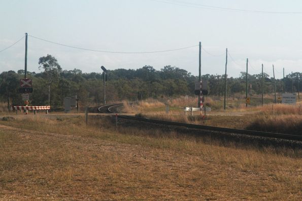 Railway line to the Abbot Point coal terminal diverges from the main North Coast line at Kaili, west of Merinda and Bowen