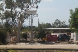 Preserved semaphore signals outside the QR signal depot at Townsville