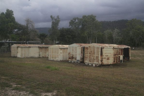 Retired louvred vans used for storage at Cardwell