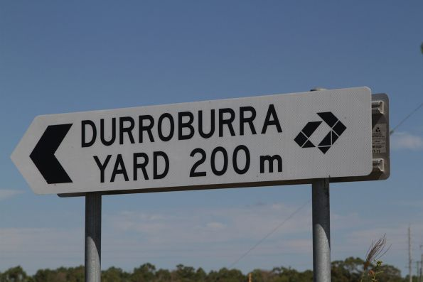 'Durroburra Yard' sign beside the North Coast line north of Bowen