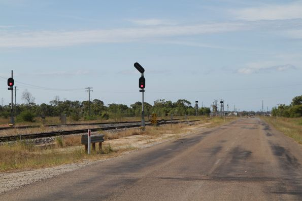 Signals at the east end of the yard at Pring