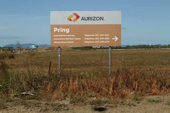 Aurizon signage outside their locomotive and infrastructure depots at Pring