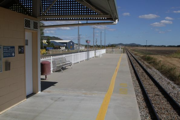 Looking south at Bowen station