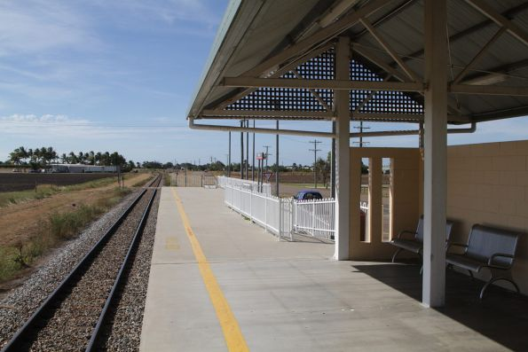 Looking north at Bowen station
