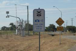 Red light camera installed at the Bruce Highway level crossing in Bowen