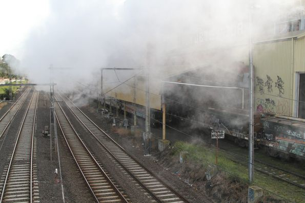 Cloud of smoke is all that remains after R707 passes through Kensington
