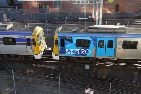 Mixed Siemens liveries at Melbourne Yard