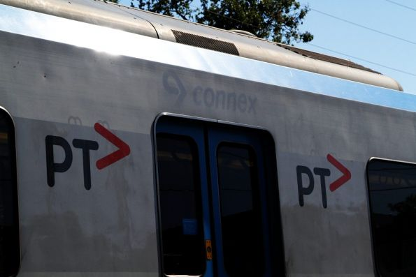 'PTV' branding covers 'Metro' branding, which covered the 'Connex' branding