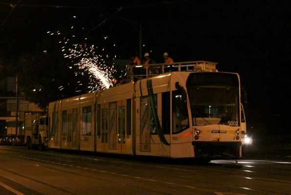 Rescuing a failed D2 class tram - September 2012