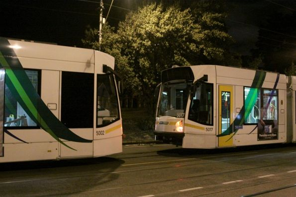 Drawbar connected between trams D2.5002 and D2.5017