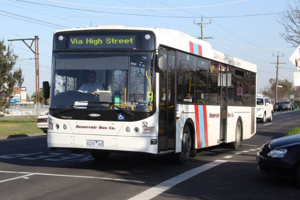 Reservoir Bus Co #52 rego 8229AO on a route 555 service along High Street in Lalor