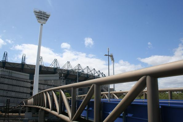 Looking north over the Multi-Purpose Arena - MCG footbridge