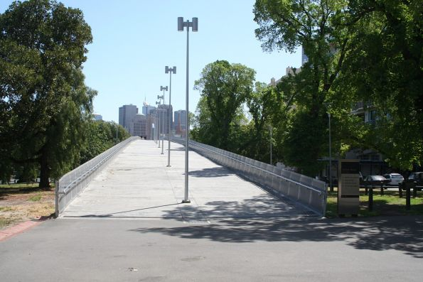 Eastern end of the William Barak Bridge