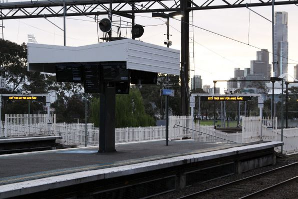 Shelters erected a few months ago to allow another set of PIDs to be installed at the city end