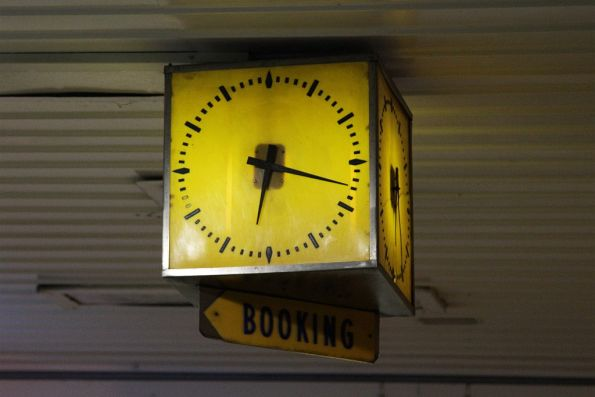 1950s clock still in place outside the Richmond station booking office