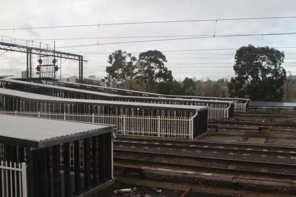 New roof covers the sports subway ramps at Richmond station