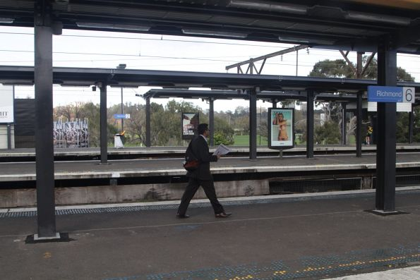 New platform shelters erected at the city end of Richmond station