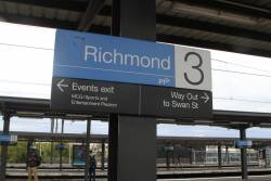 Directions to the 'everyday' and event only exits at Richmond station