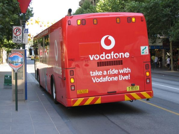 Back end of the Vodafone Live promotional bus - MO8333 visiting from NSW