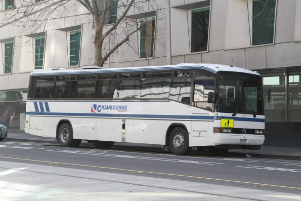 Cranbourne Transit bus #58 5009AO on William Street, Melbourne