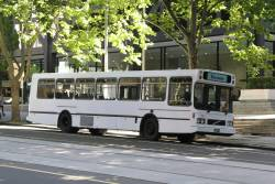 V Bus Coaches BS02NZ parked on William Street in the Melbourne CBD