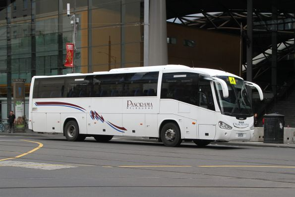 Panorama Melbourne coach 3028AO on Spencer Street outside Southern Cross Station