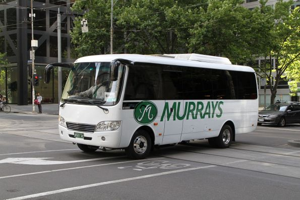 Murrays coach BS01AC on a NAB staff shuttle at William and Bourke Street